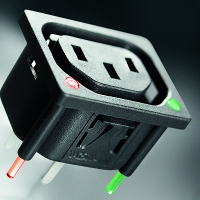 66005 series,  IEC outlets with inte..